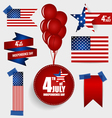 Collection of American Flags for Independence Day vector image