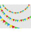 color flag strings clipart vector image vector image