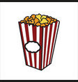 color sketch popcorn vector image vector image