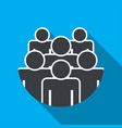 crowd of people - icon silhouettes flat design vector image vector image