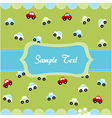 cute seamless pattern with little cars baby card vector image vector image