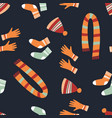cute seamless warm clothes pattern vector image vector image