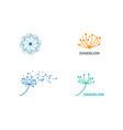 dandelion flower logo vector image vector image