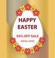 easter egg poster vector image vector image