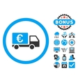 Euro Collector Car Flat Icon with Bonus vector image vector image