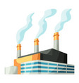 factory or industrial building vector image vector image