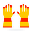 fire rescue gloves flat isolated vector image