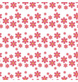 floral pattern seamless with flowers gentle vector image vector image
