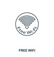 free wifi icon outline thin line style from vector image vector image