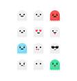 ghost emojis vector image vector image