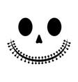 halloween skeleton smile vector image vector image