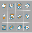 hand drawn medical icons vector image vector image