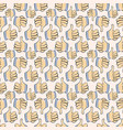 hand fingers pattern on white background vector image vector image