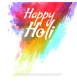 happy holi colorful splash background vector image vector image