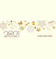 happy new 2021 year elegant poster template vector image