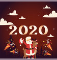 happy new year 2020 christmas holidays greeting vector image