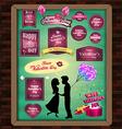 Happy valentine day elements Mega Set signs label vector image