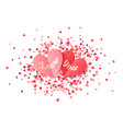 heart shape paper valentines with sign love vector image