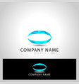 initial letter o graphic design vector image