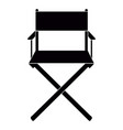 isolated director chair vector image