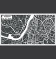 kolkata india city map in retro style outline map vector image vector image