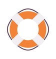 Lifebuoy ring in orange and white color vector image
