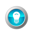 light bulb button vector image vector image