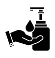 liquid soap with hand icon vector image vector image