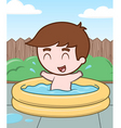 little boy in a pool vector image vector image