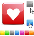 Love glossy button vector image vector image