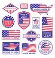 made in usa logo american proud patriot tag vector image vector image