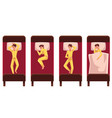 man sleeping in bed lying on back side top view vector image vector image