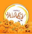 many pumpkins for the halloween party vector image vector image