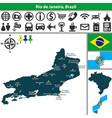 map of rio de janeiro brazil vector image