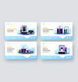 menswear landing page template set tiny male vector image
