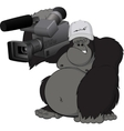 Monkey with camera vector image vector image