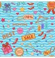 Pattern on shopping themed design with different vector image vector image
