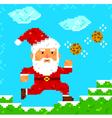 pixel art Santa Clause vector image