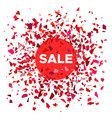 red ball with the inscription sale vector image