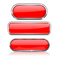red buttons with metal frame collection of shapes vector image vector image