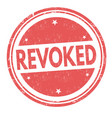 revoked grunge rubber stamp vector image vector image