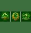 saint patricks day emblems set vector image