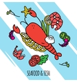 Seafood Concept vector image vector image