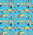Seamless design of a family vector image vector image