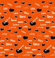 seamless pattern with black hearts vector image vector image