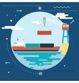 Shipment Freight Symbol Ocean Sea River Shipping vector image vector image