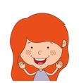 silhouette half body girl smiling with open arms vector image vector image