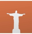 Silhouette of a statue to Jesus Christ in Rio de vector image
