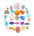 simulation icons set cartoon style vector image vector image