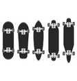 skateboards set skateboarding elements longboard vector image vector image